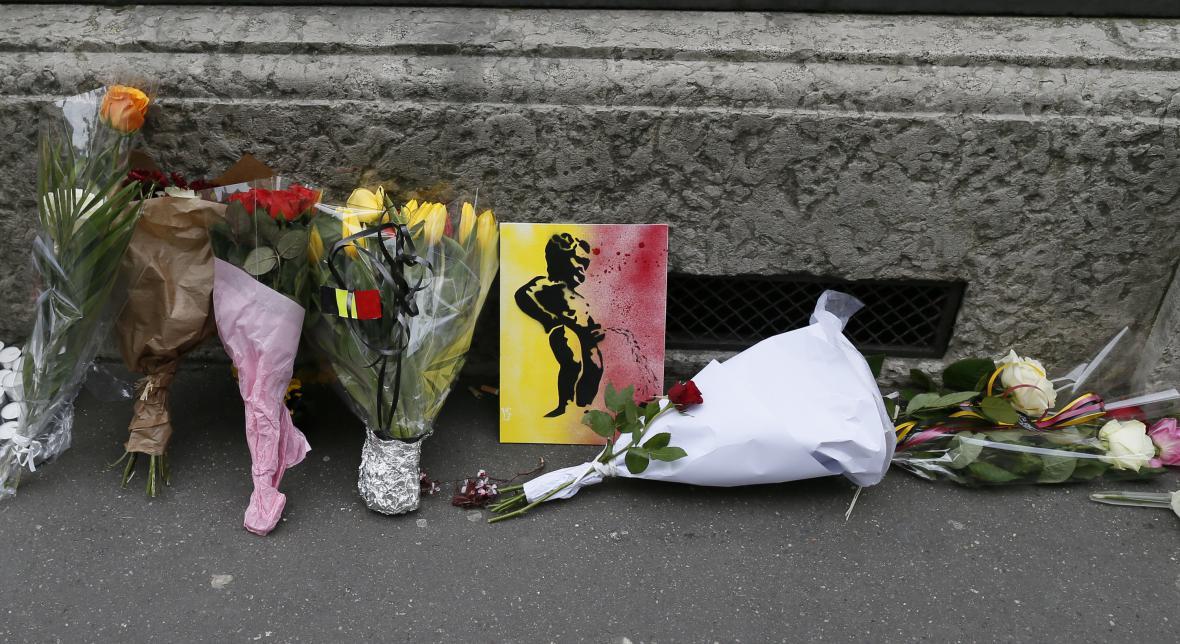Květiny pro oběti teroru