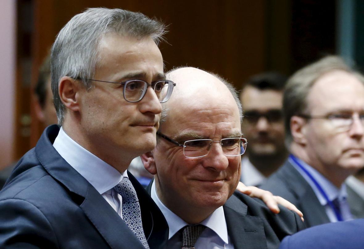 Lucemburský ministr spravedlnosti Braz se svým belgickým protějškem Geensem