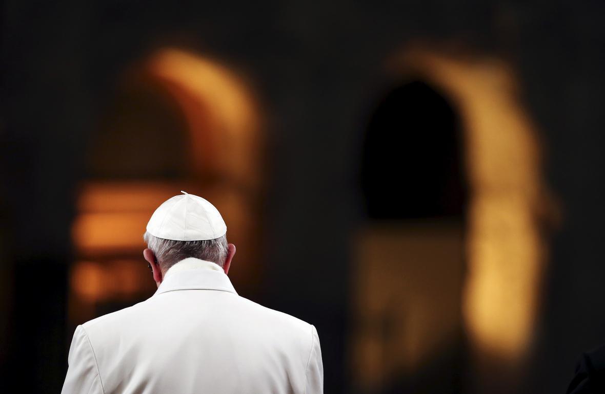 Papež František u Kolosea