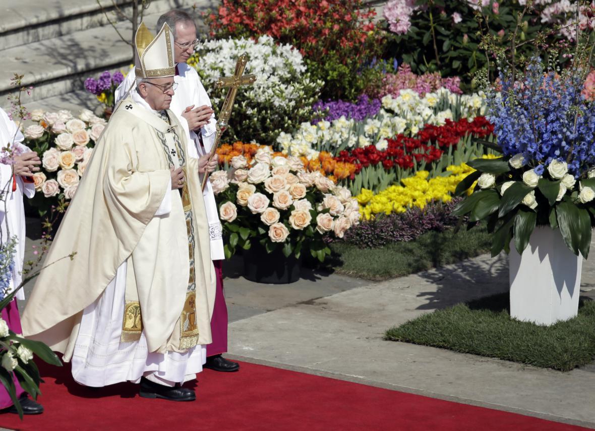 Papež František se chystá přednést velikonoční posleství