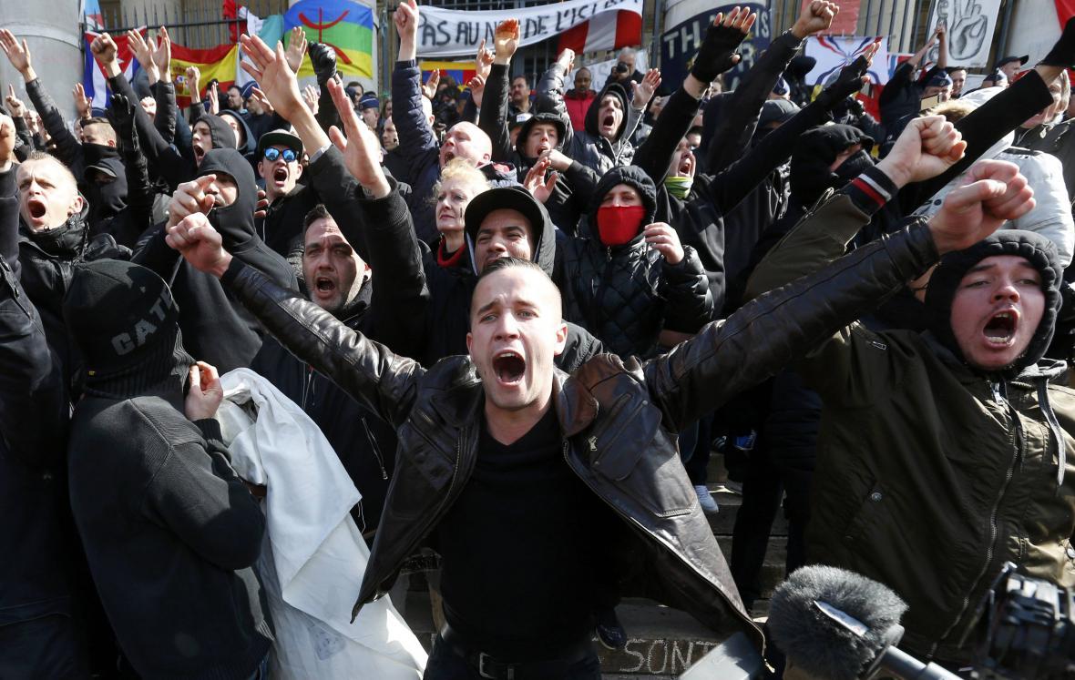 Krajní pravice vyšla do bruselských ulic