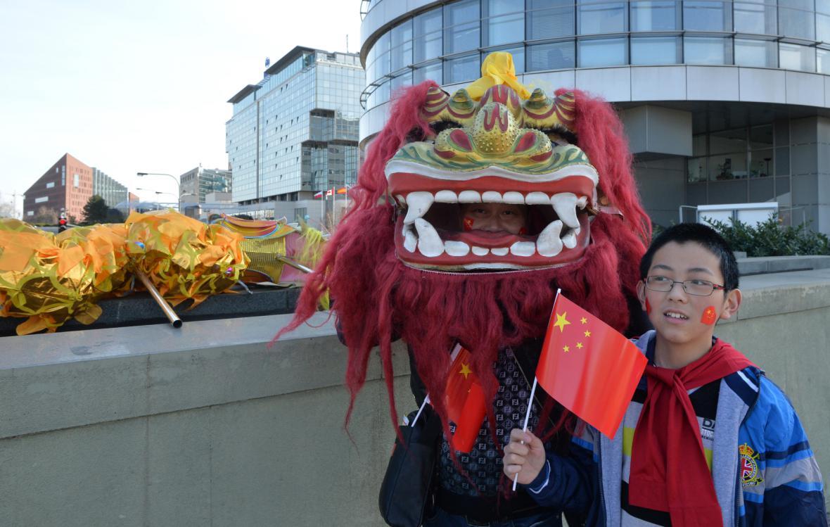 Vítání čínského prezidenta