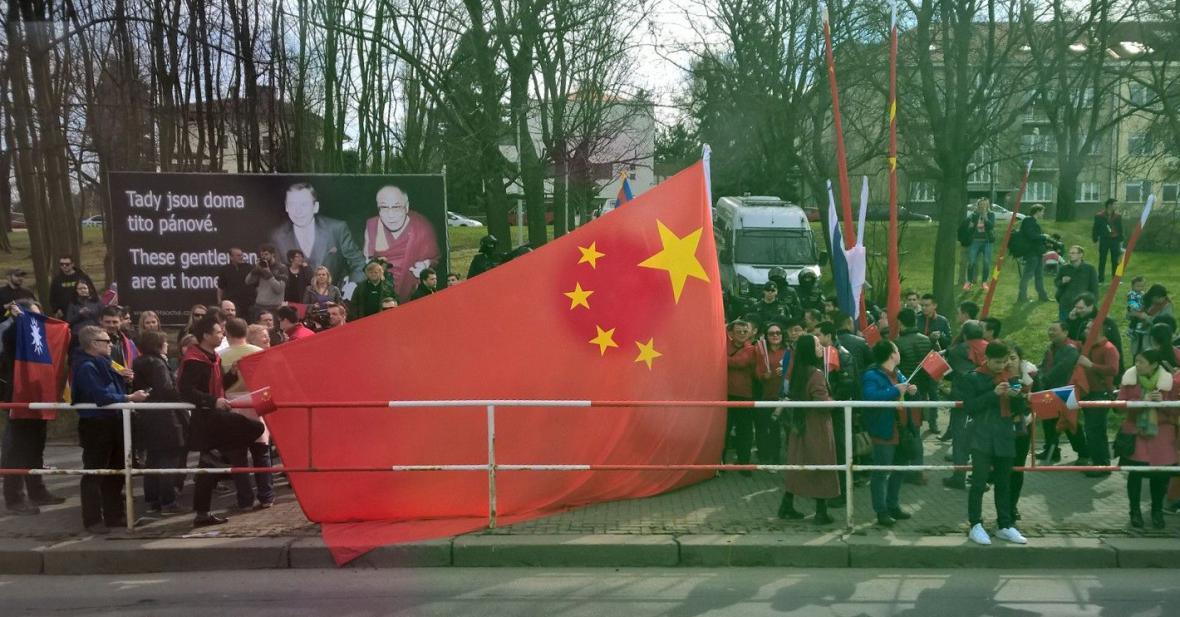 Protest proti návštěvě čínského prezidenta