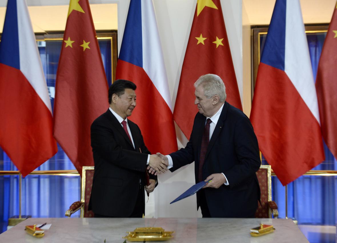 Miloš Zeman a Si Ťin-pching