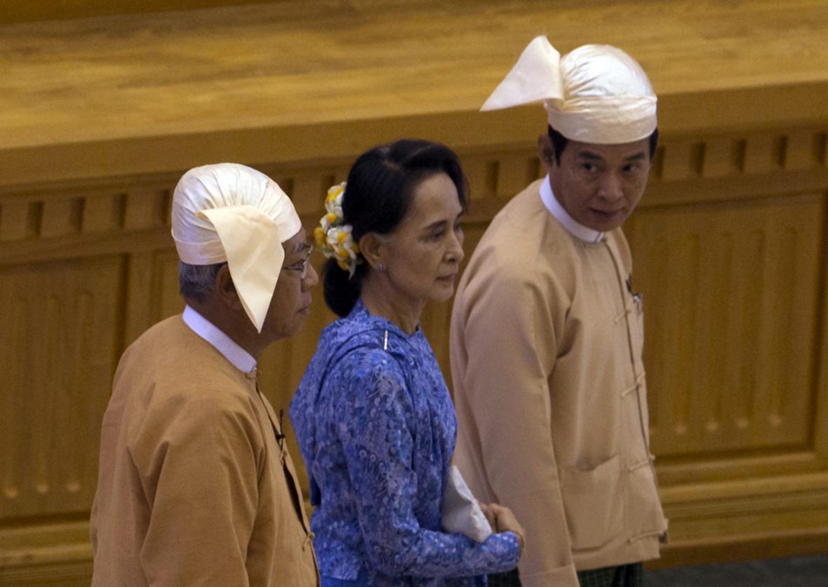 Su Ťij v parlamentu