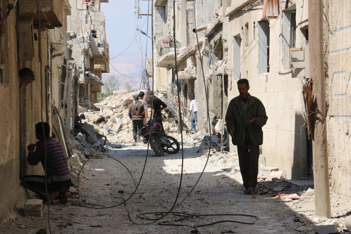 Dajr As-Sáfír po náletu syrských sil