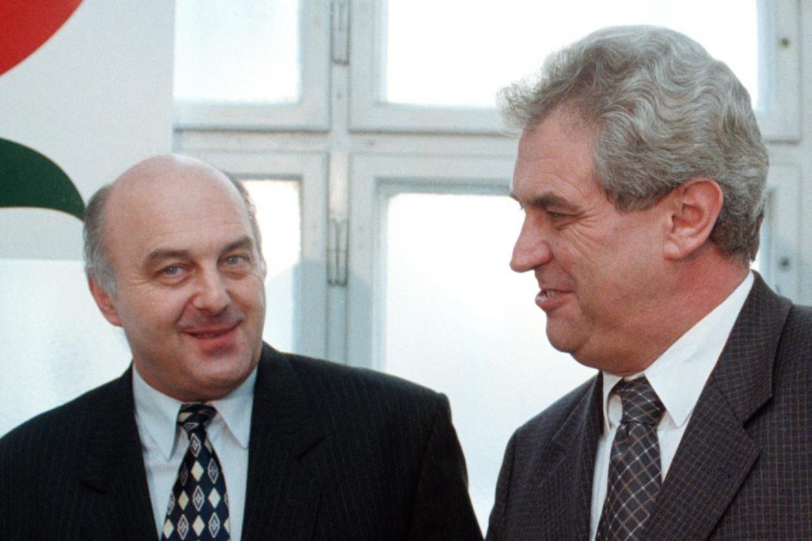 Miloš Zeman a Ivo Svoboda, 1999