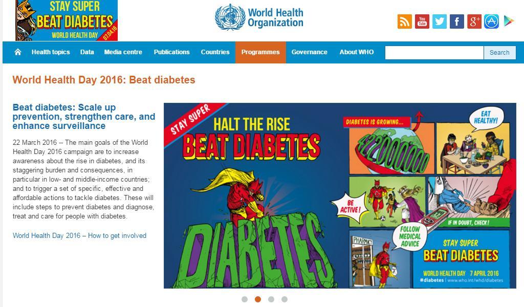 Kampaň WHO k cukrovce