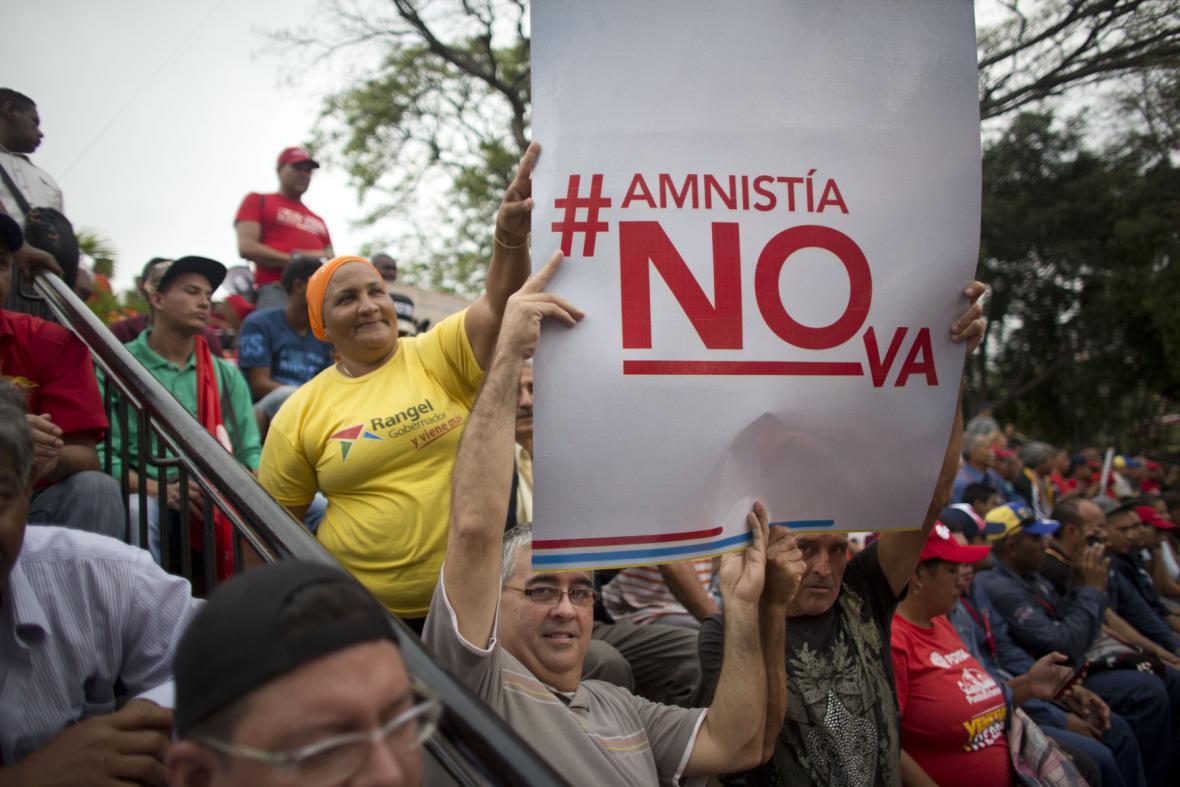 Protest Madurových příznivců