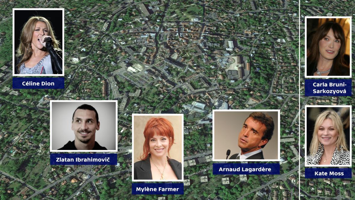 Celebrity žijící ve čtvrti Montmorency