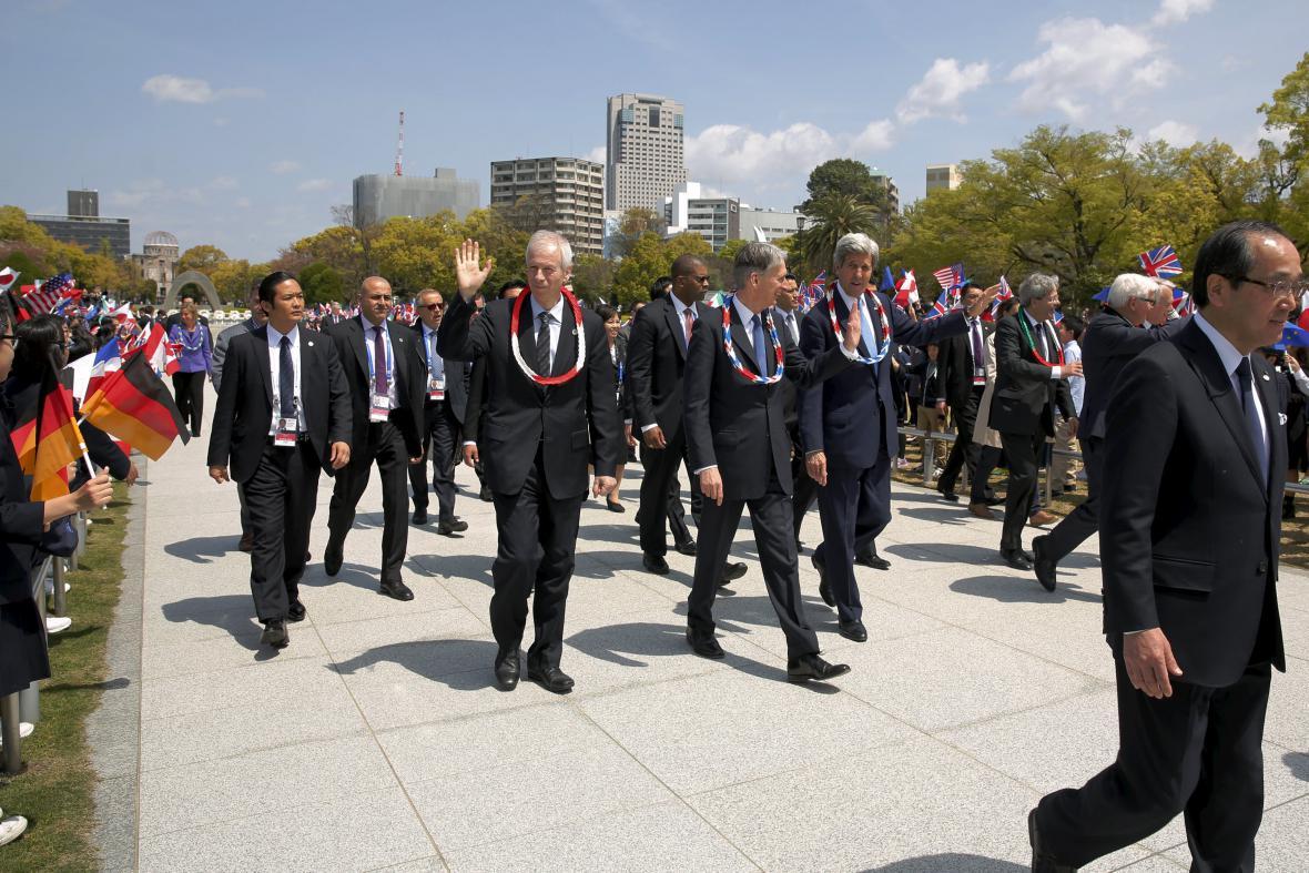 John Kerry navštívil památník v Hirošimě