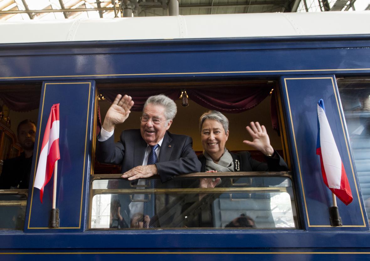 Heinz Fischer a jeho manželka Margit