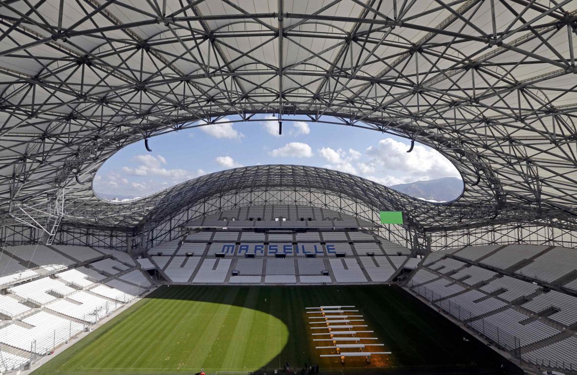 Fotbalový stadion v Marseille