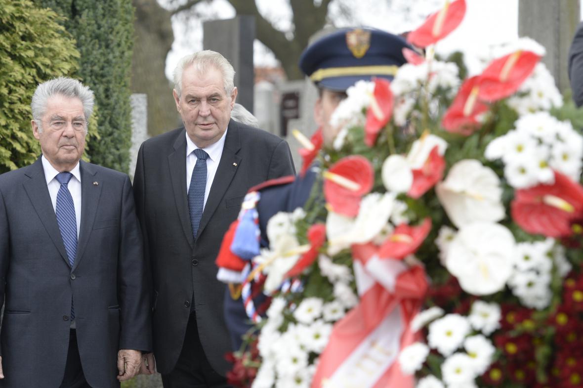 Heinz Fischer a Miloš Zeman