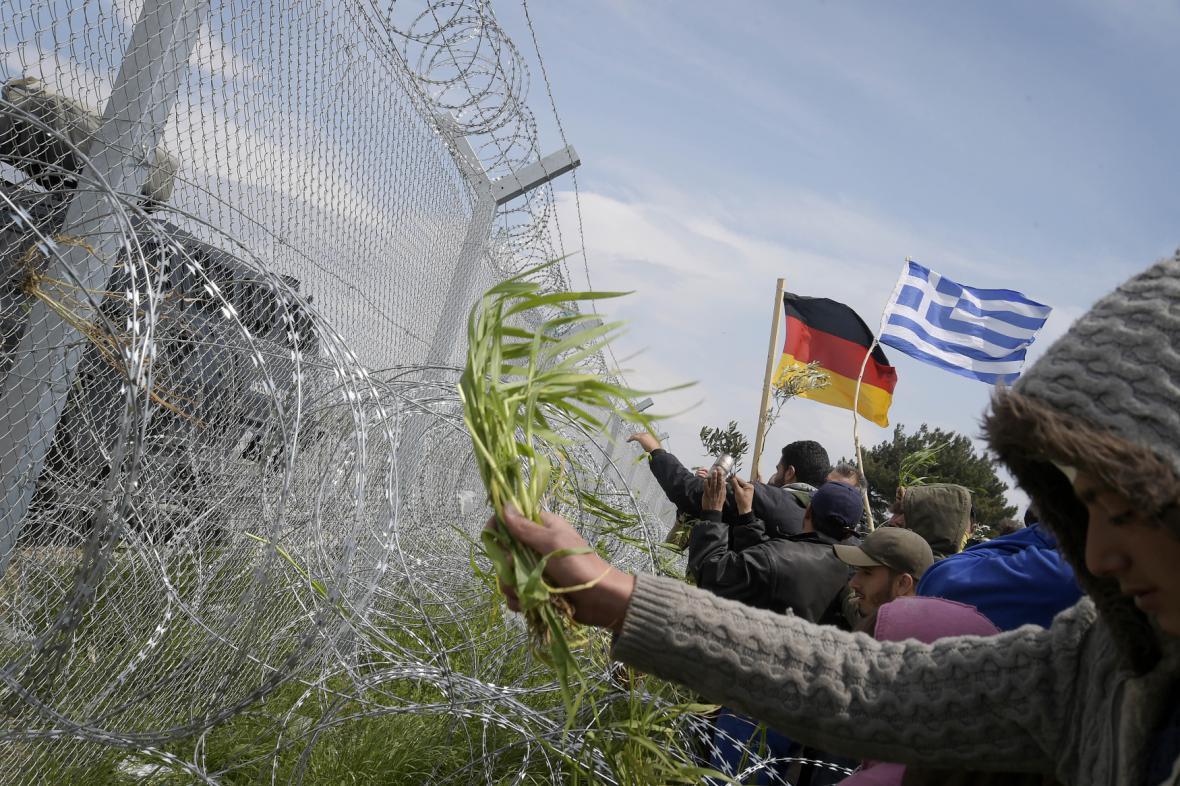 Uprchlíci na hranici s Makedonií