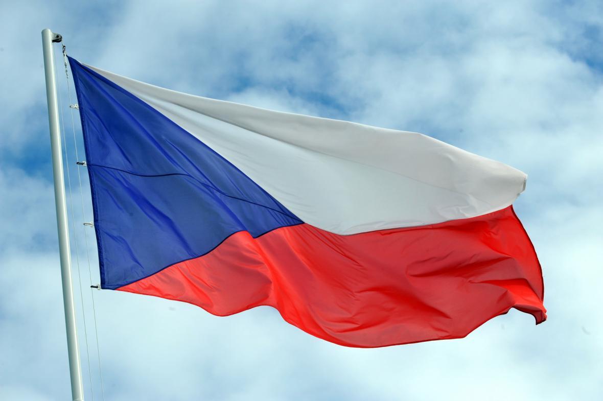 Výsledek obrázku pro osn česká republika vlajka