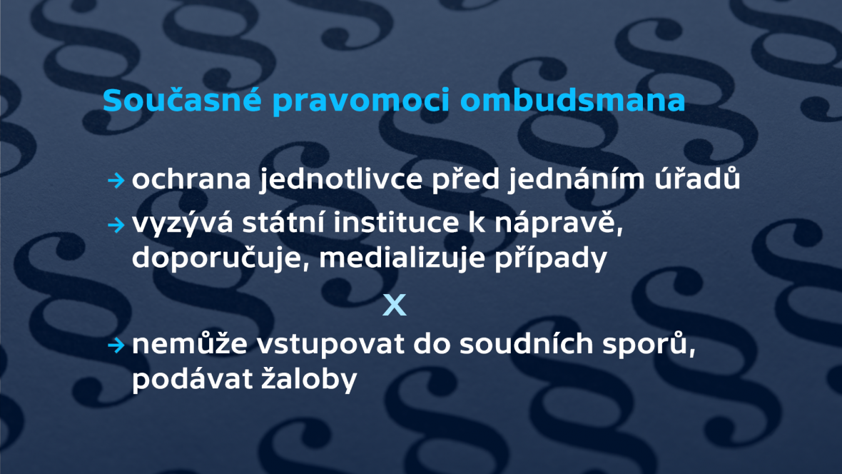 Současné pravomoci ombudsmana
