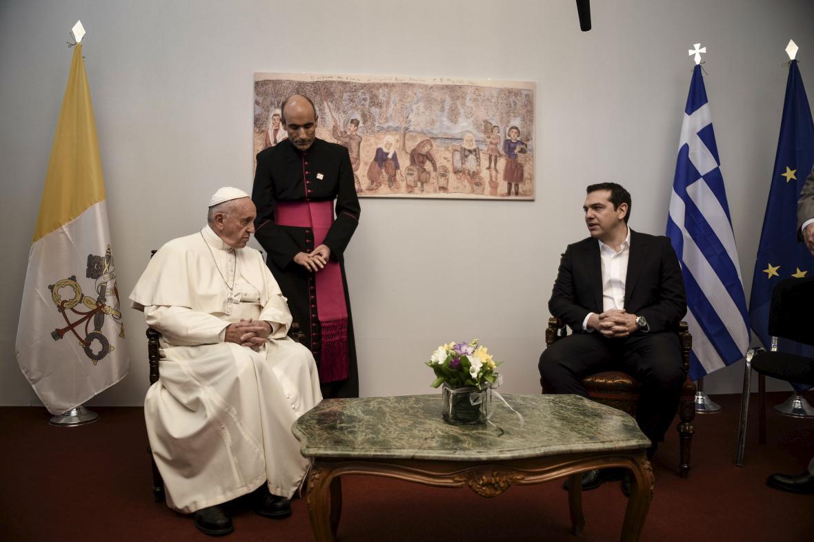 Papež František a řecký premiér Alexis Tsipras
