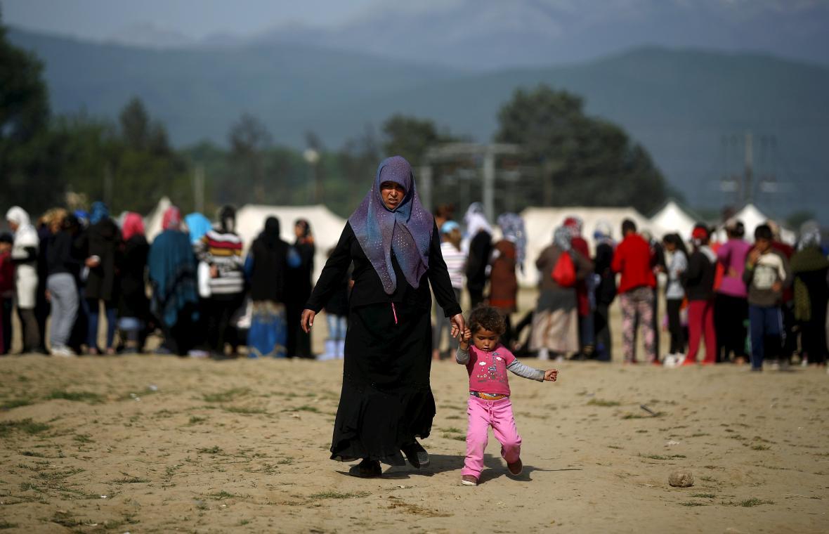 Běženci na řecko-makedonské hranici