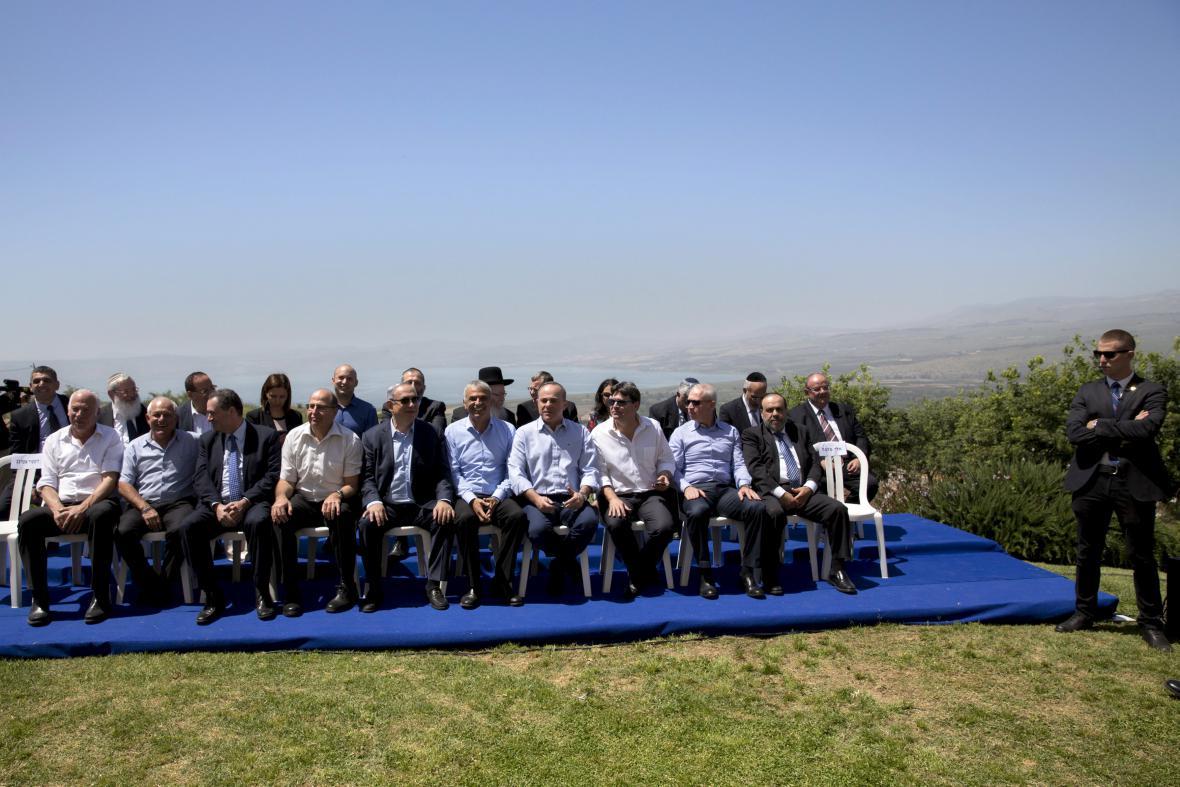 Zasedání izraelské vlády na Golanských výšinách