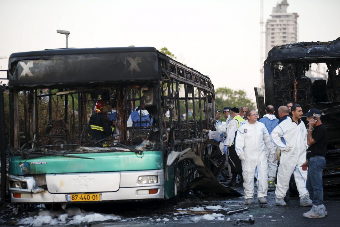 Výbuch autobusu v Jeruzalémě