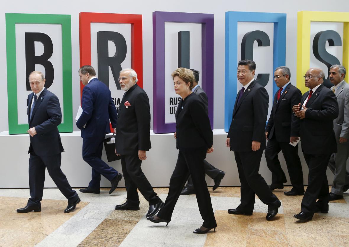 Zástupci zemí BRICS