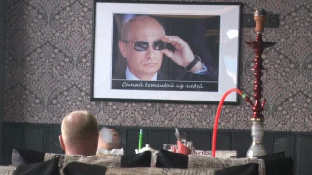 Kavárna zasvěcena Putinovi a Rusku