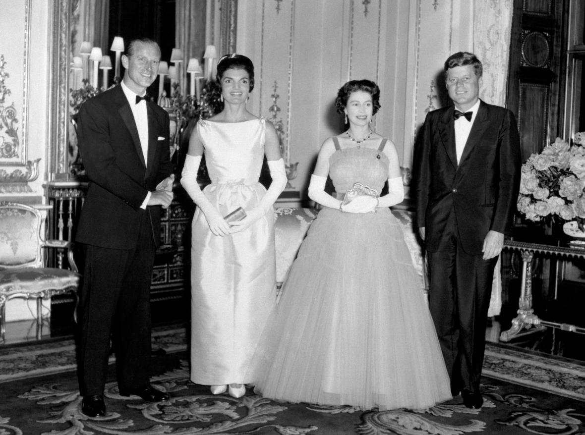 Britský královský pár s Johnem F. Kennedym a Jacqueline