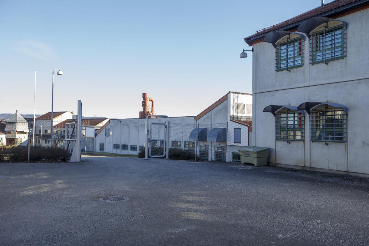 Věznice Skien, kde je Breivik aktuálně umístěn
