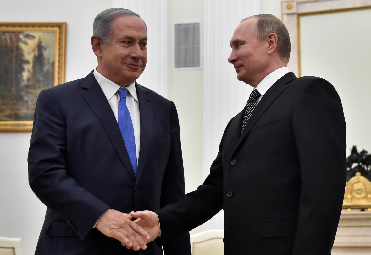 Izraelský premiér Benjamin Netanjahu a šéf Kremlu Vladimir Putin