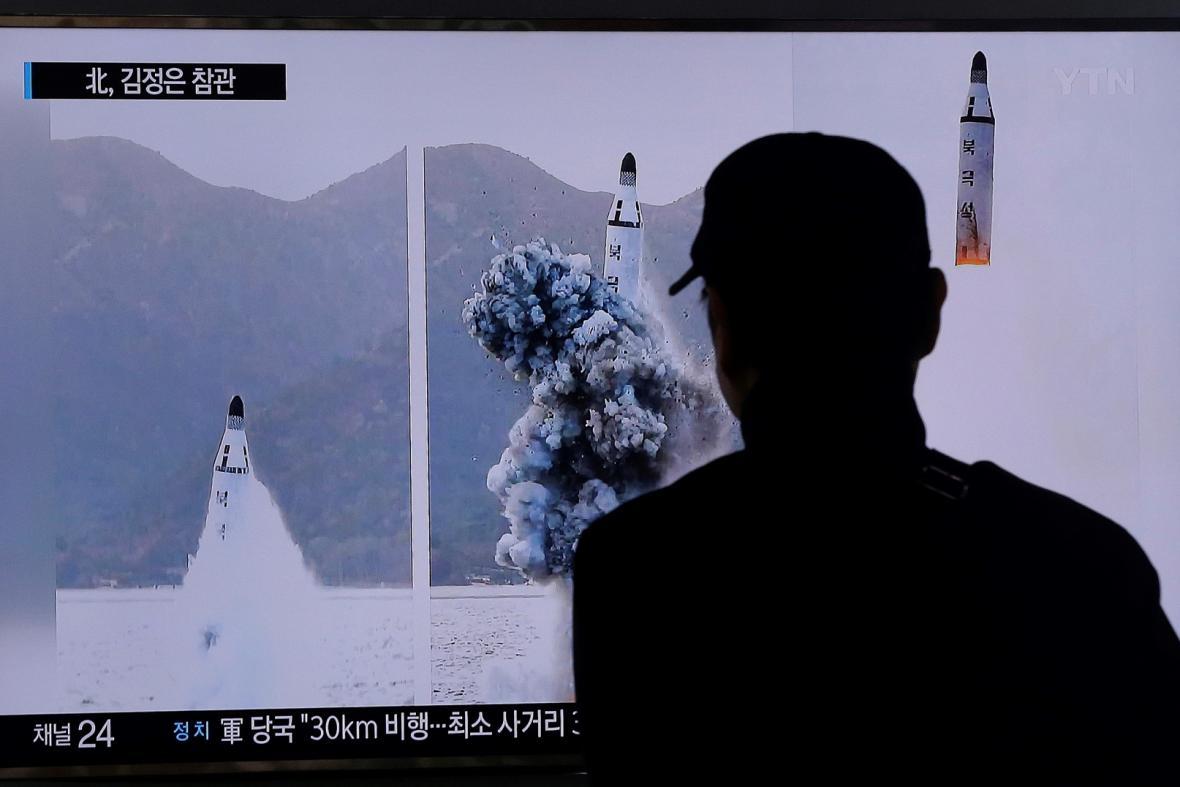 Zpravodajství o odpálení balistické rakety