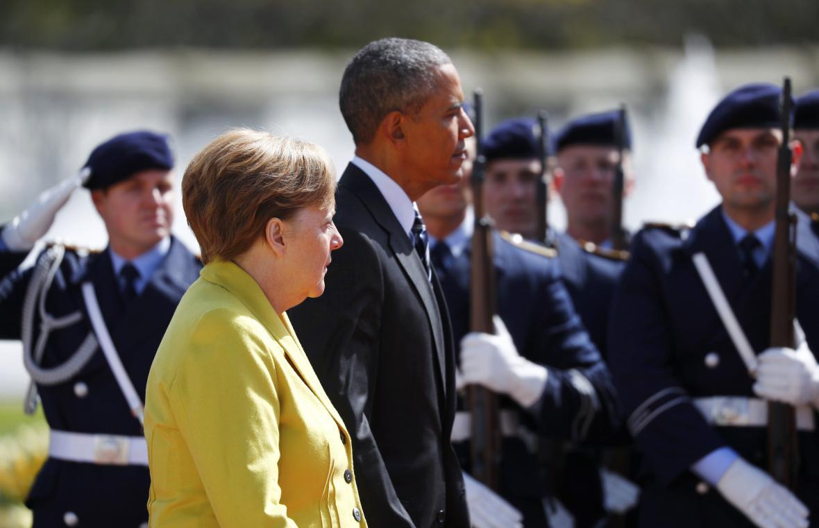 Merkelová přivítala Obamu v Hannoveru
