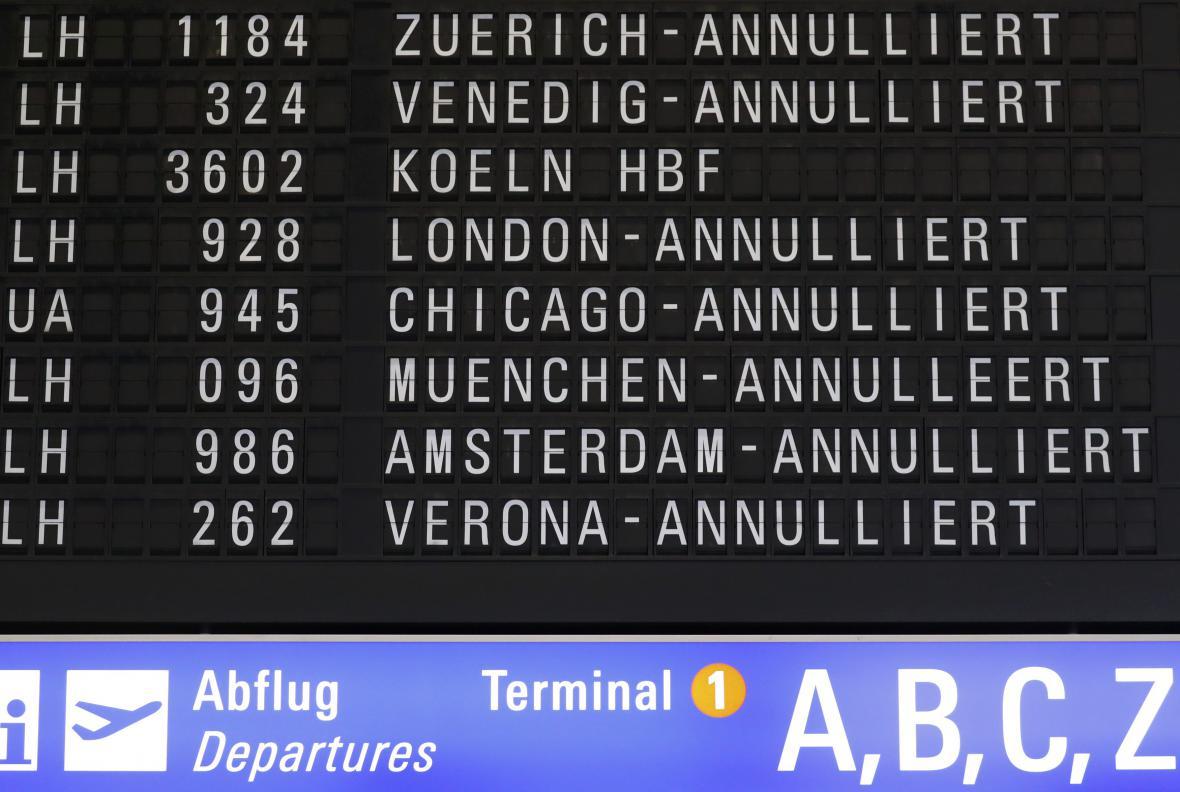 Stávka v Německu ochromila letecký provoz