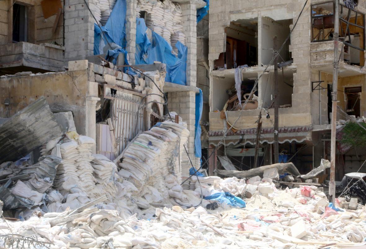 Vybombardovaná nemocnice Kuds