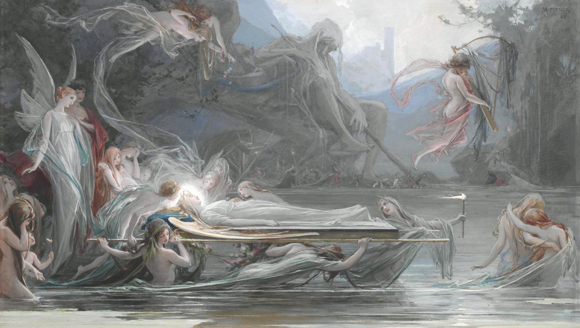 Maxmilián Pirner, Pohřeb víly, 1888