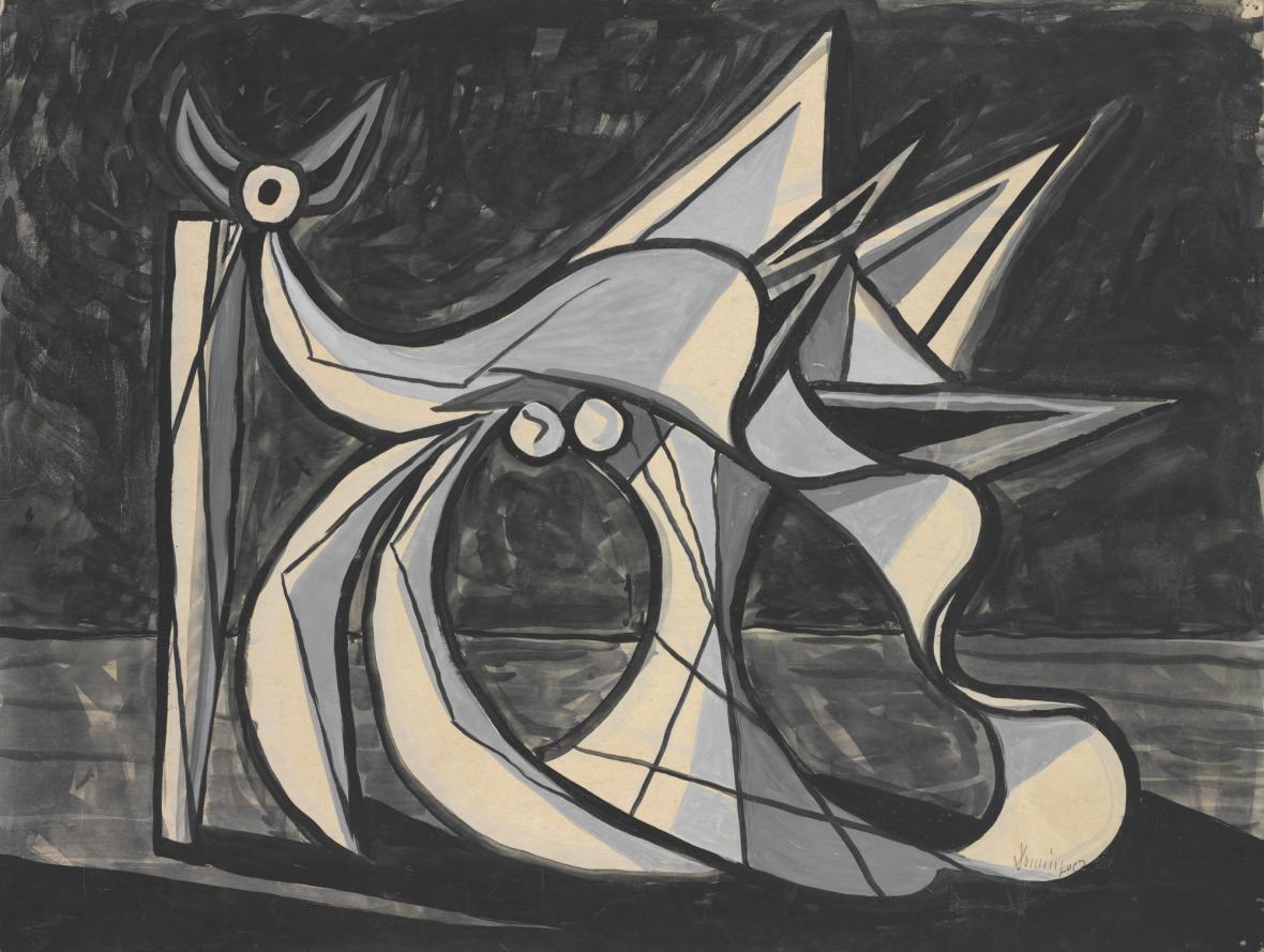 Oscar Dominguez, Umírající býk, 1947