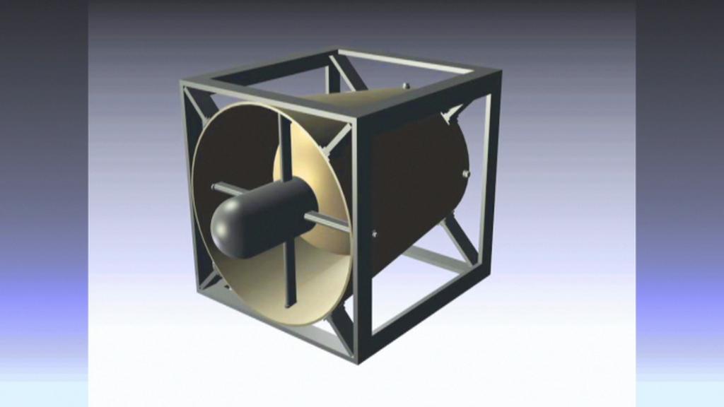Model odvalovací turbíny