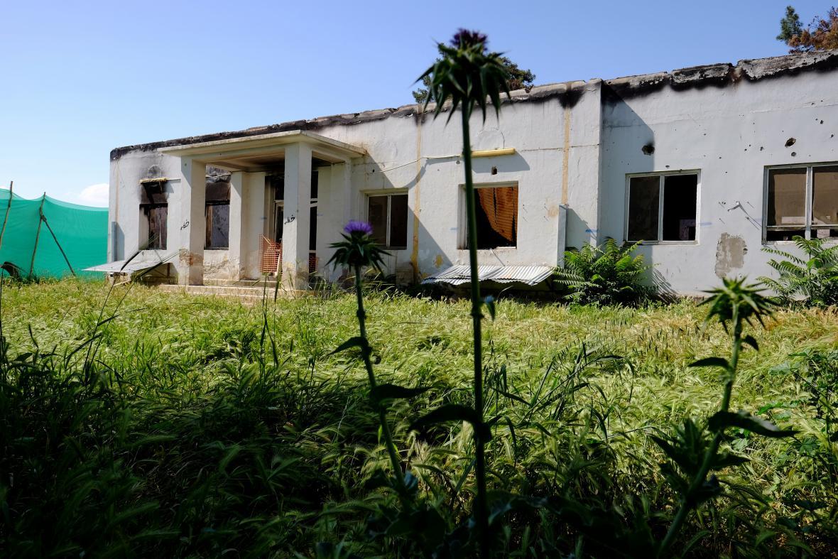 Ruiny nemocnice v Kunduzu