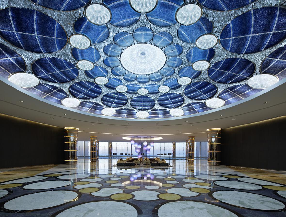 Instalace Lasvitu v Abu Dhabi