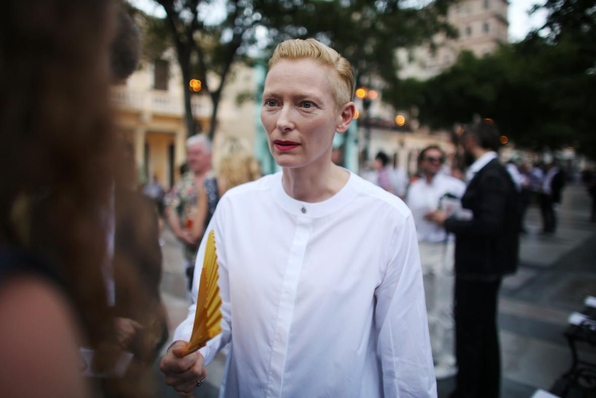 Herečka Tilda Swinton