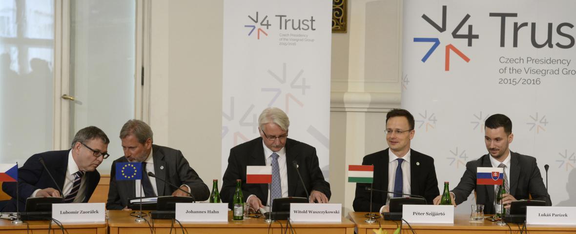 Zasedání ministrů zahraničí V4 v Praze