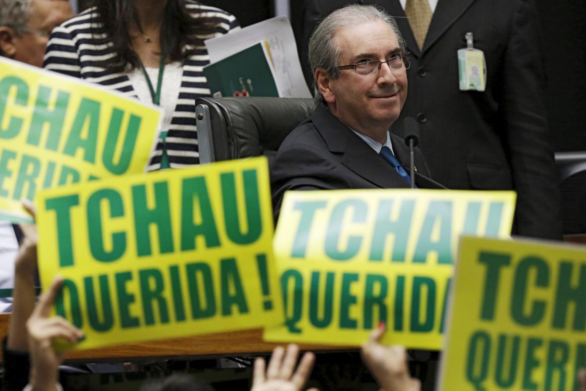 Šéf brazilské sněmovny Eduardo Cunha