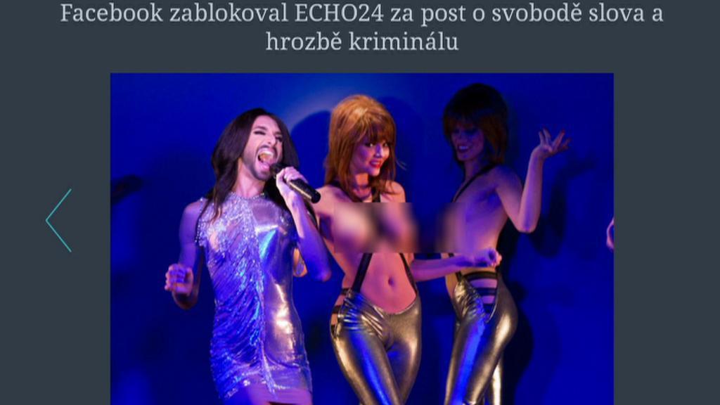 Conchita Wurst v článku webu Echo24.cz