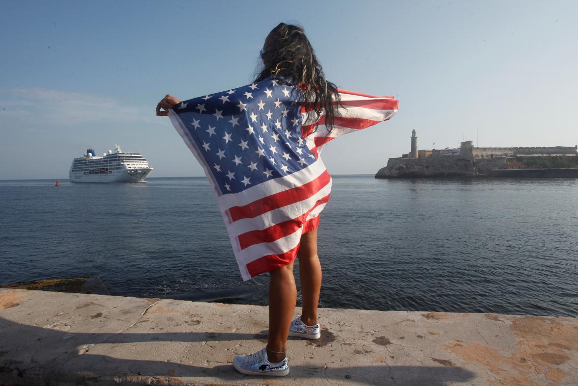 Americká výletní loď dorazila na Kubu