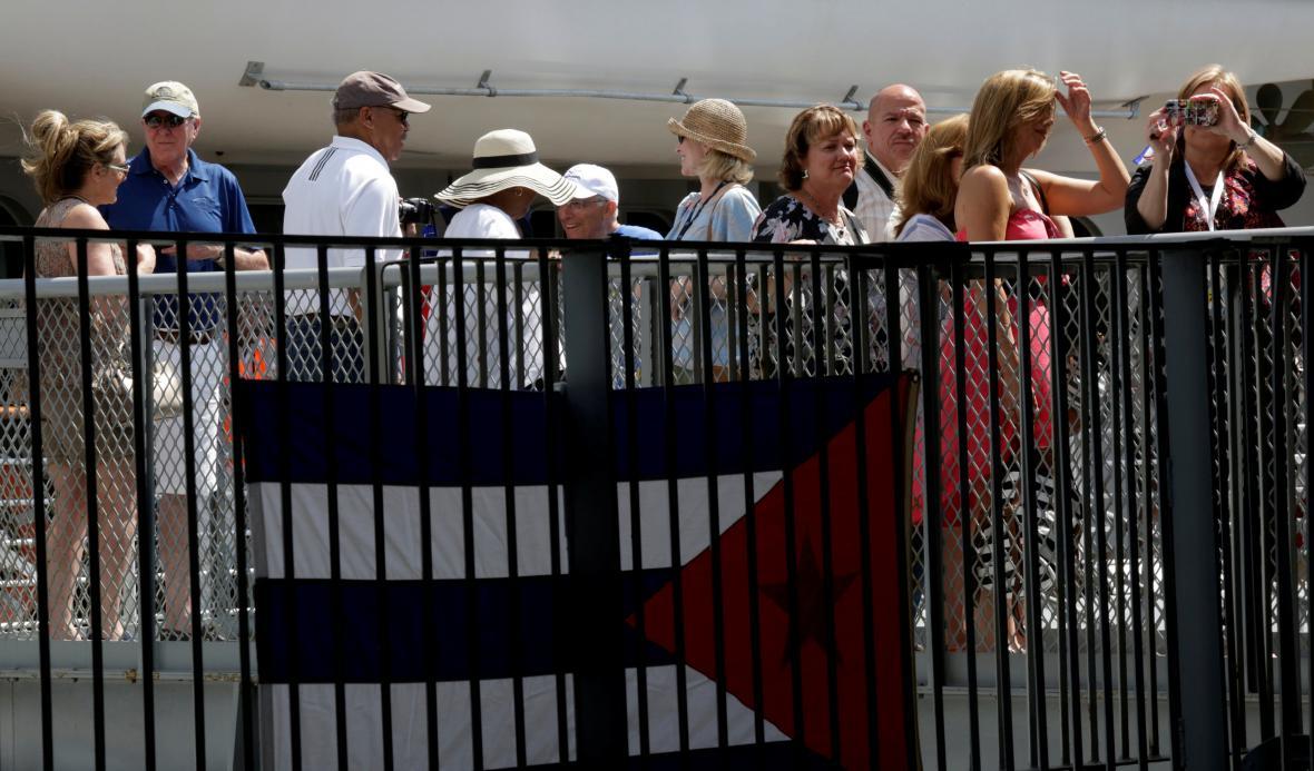 Američtí výletníci na Kubě