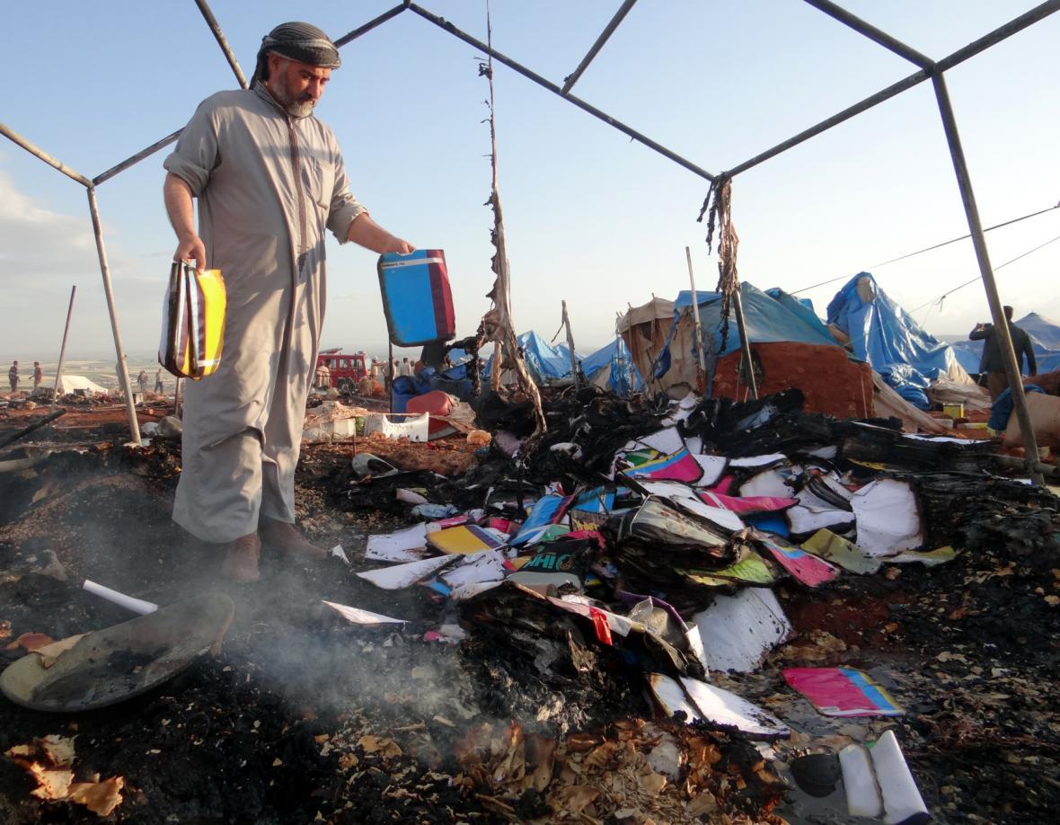 Syrský tábor po náletu
