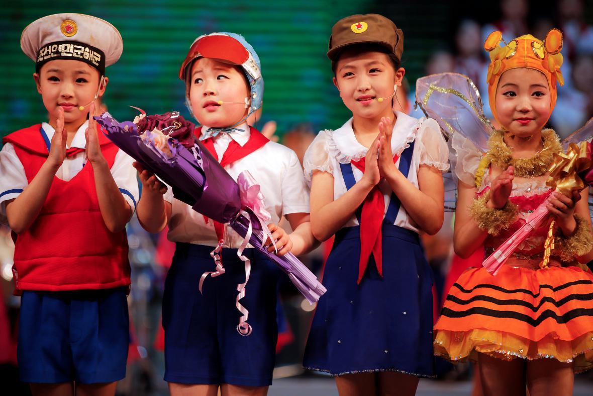 Dětské představení v Pchjongjangu