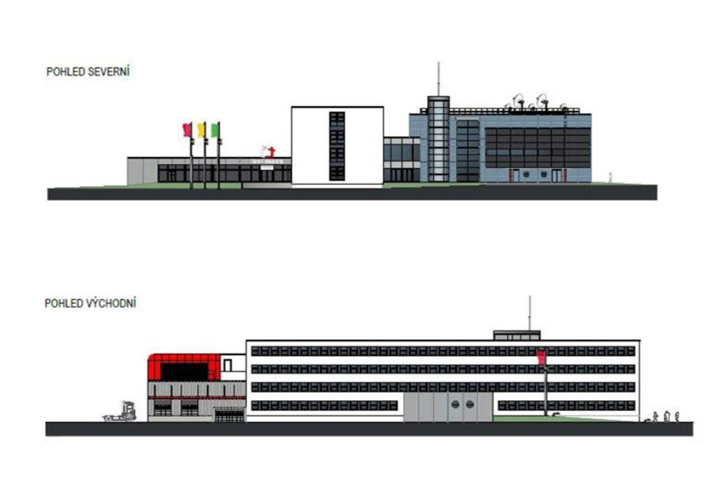 Vizualizace nového studia ČT Brno