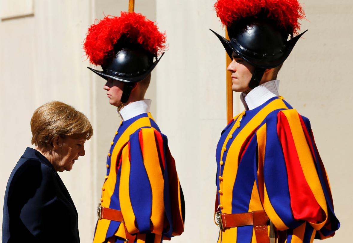 Angela Merkelová ve Vatikánu
