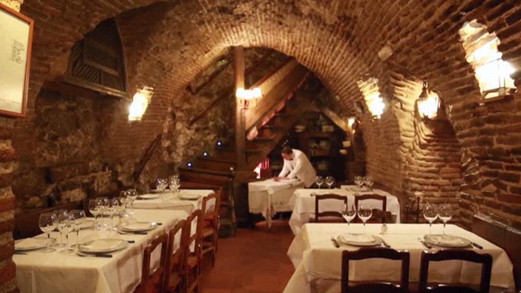 Interiér restaurace Botín v Madridu